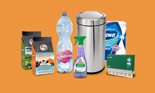 Üzemeltetés: tisztítószerek és élelmiszerek