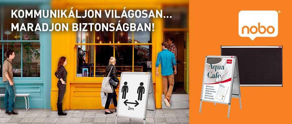 NOBO táblák a biztonságos kommunikációért